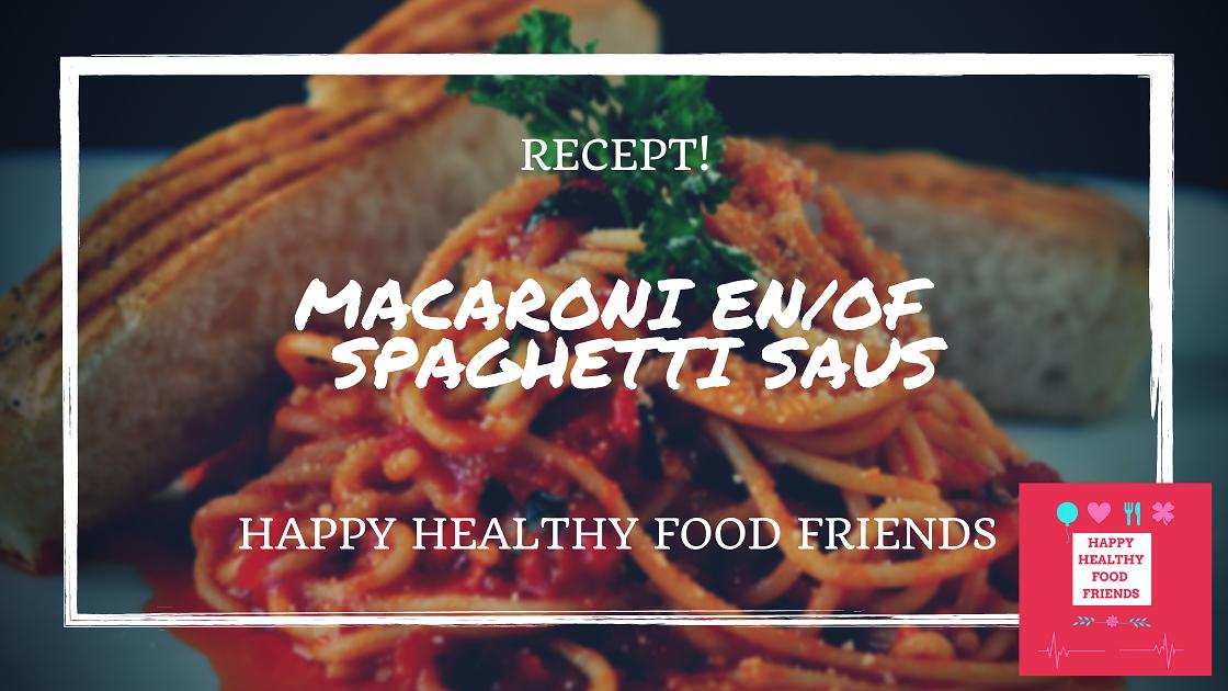 macaroni/spaghetti saus