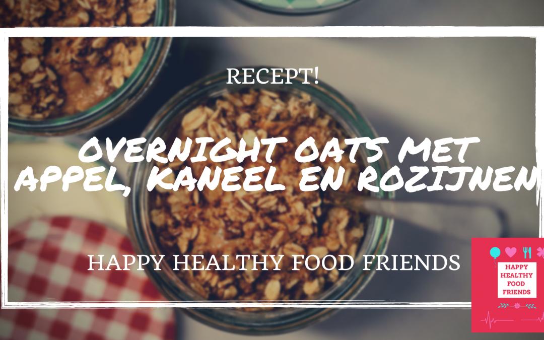 Overnight oats met appel, kaneel en rozijnen