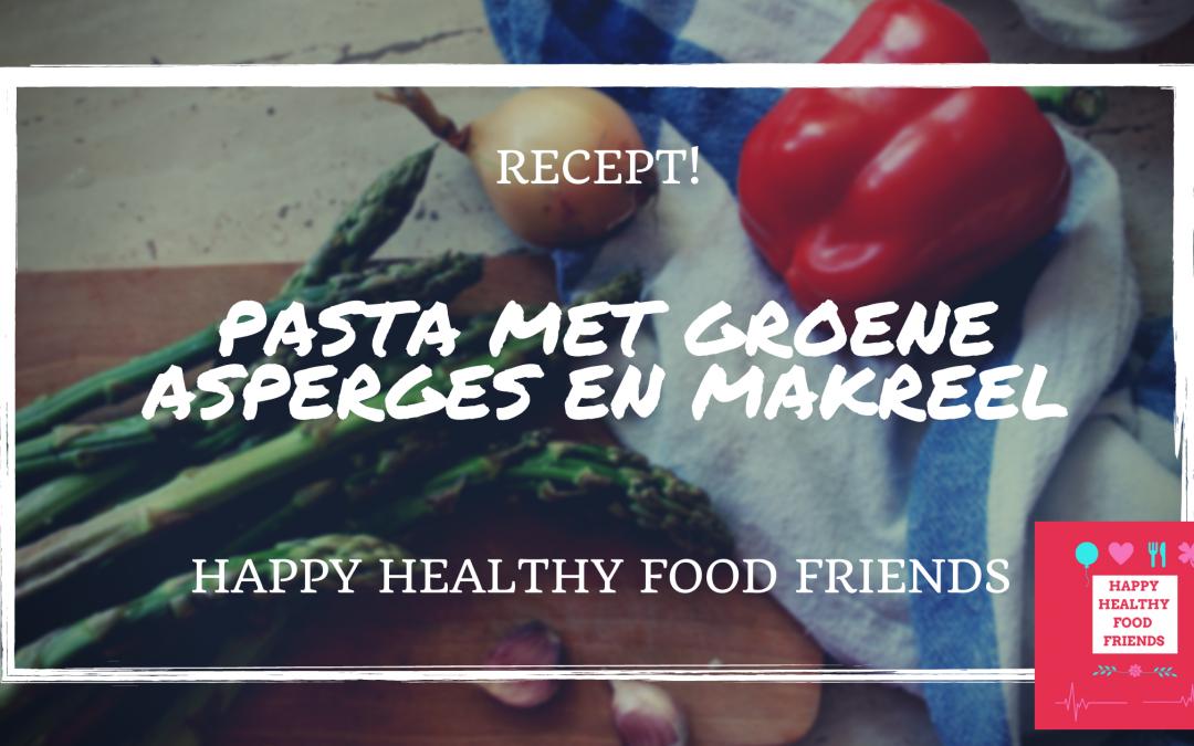 Pasta met groene asperges en makreel