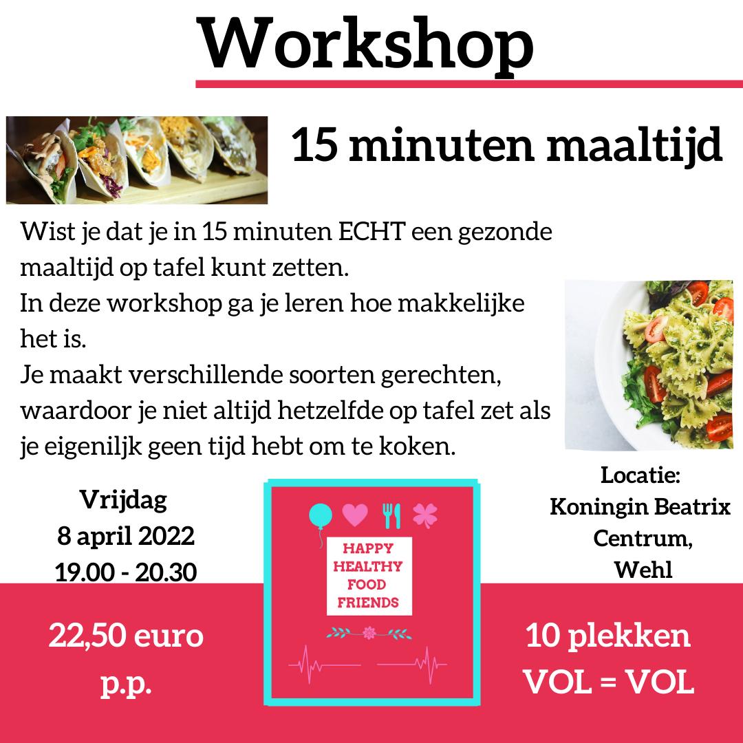 Workshop 15 minuten maaltijd