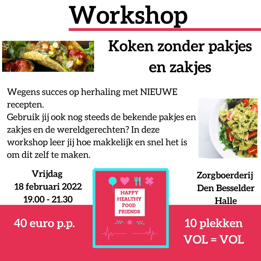 Workshop koken zonder pakjes en zakjes